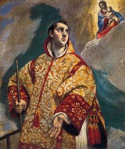 El Greco: A Szűzanya megjelenik Szent Lőrincnek