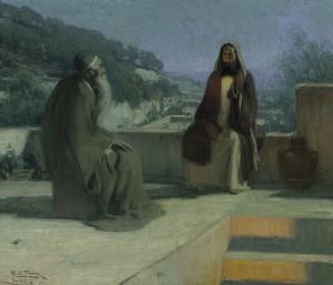 Henry_Ossawa_Tanner_-_Jesus_and_nicodemus