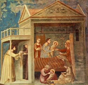 Giotto_-_Scrovegni_-_-07-_-_The_Birth_of_the_Virgin